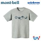 【Mont-Bell 日本 男 Wickron 山的情景 短袖排T《炭灰》】1114412/吸濕排汗/抗UV/休閒衫/戶外
