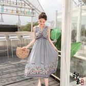 無袖洋裝大尺碼超舒適棉麻三種穿法名族風度假裙沙灘裙長裙連身裙 降價兩天
