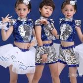 兒童演出服蓬蓬裙男女童亮片舞蹈表演服幼兒爵士舞服裝現代舞蹈服