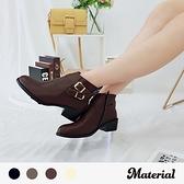 短靴 金屬雙扣帶短靴 MA女鞋 T7821