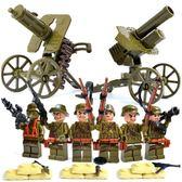 兒童益智拼裝積木 武裝樂高軍事小人仔玩具二戰軍隊6-10歲