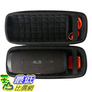 [8美國直購] co2crea Hard Travel Case for JBL Charge 4 Waterproof Bluetooth Speaker (Black)