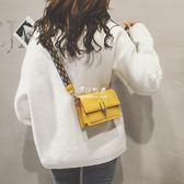 斜背包  ins超火包 斜跨小包包少女女包寬帶斜背包上新小包包 『伊莎公主』