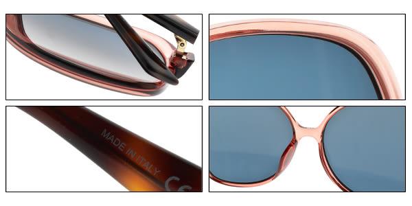 Dior 太陽眼鏡 NUANCE F 35JKU (透粉琥珀-藍鏡片) 歐美時尚造型款 墨鏡 #金橘眼鏡