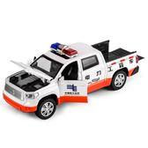 一件8折免運 玩具汽車模型卡威合金工程車模型皮卡運輸車兒童玩具車警車男孩仿真回力小汽車