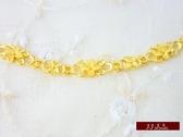 9999純金 金飾 甜蜜花園 黃金手鍊 手鍊