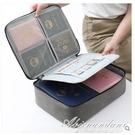 大容量家庭證件收納包家用重要文件收納盒整理證書收納便攜小卡包 黛尼時尚精品