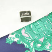 HERMES 方型烙印馬車方巾釦 (無附絲巾) 全新品