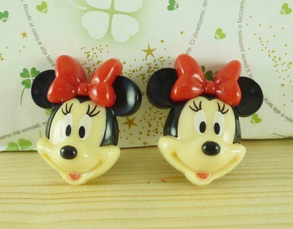 【震撼精品百貨】Micky Mouse_米奇/米妮 ~2入髮夾-紅米妮