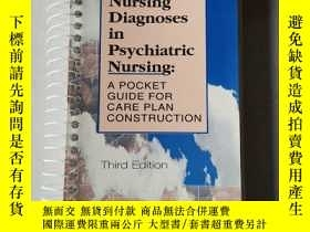 二手書博民逛書店Nursing罕見Diagnoses in Psychiatric Nursing A POCKET GUIDE