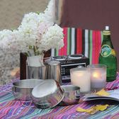 聖誕節野餐餐具 戶外餐具碗304不銹鋼旅行便攜小鋼碗野營登山垂釣野餐餐具套裝 俏女孩
