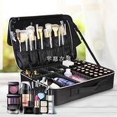 大容量化妝包女便攜專業化妝師跟妝品收納包ins風 超火紋繡手提箱 快速出貨