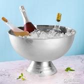 大不銹鋼香檳盆冰桶酒吧冰粒冰鎮冰酒啤酒紅酒冰塊冰的桶賓治大號  全館鉅惠  ATF