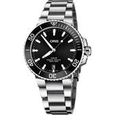 Oris 豪利時 Aquis 時間之海專業潛水機械錶-黑/40mm 0173377324134-0782105PEB