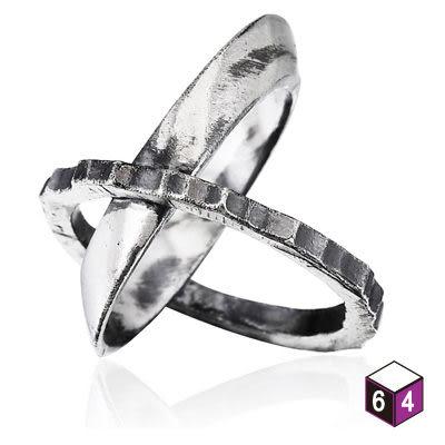 齒輪軸 純銀戒指-Angle Esthetics-64DESIGN