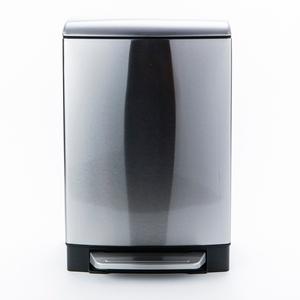 特力屋 戴拉緩降垃圾桶 12L 不鏽鋼色