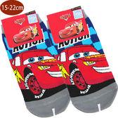 兒童襪子CARS汽車總動員閃電麥坤童襪短襪直版襪灰色款15-22cm 122614【77小物】
