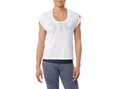 【ASICS 亞瑟士】 女 短袖T恤 寬鬆 瑜珈服 運動短T 151391-0014 白 [陽光樂活]