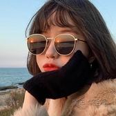 2021年新款墨鏡女ins街拍網紅圓框眼鏡韓版潮復古太陽鏡小臉防曬 魔法鞋櫃