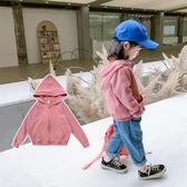 女童外套加絨連帽2020年秋裝新款韓版兒童洋氣寶寶秋冬上衣春秋季 雙十二全館免運
