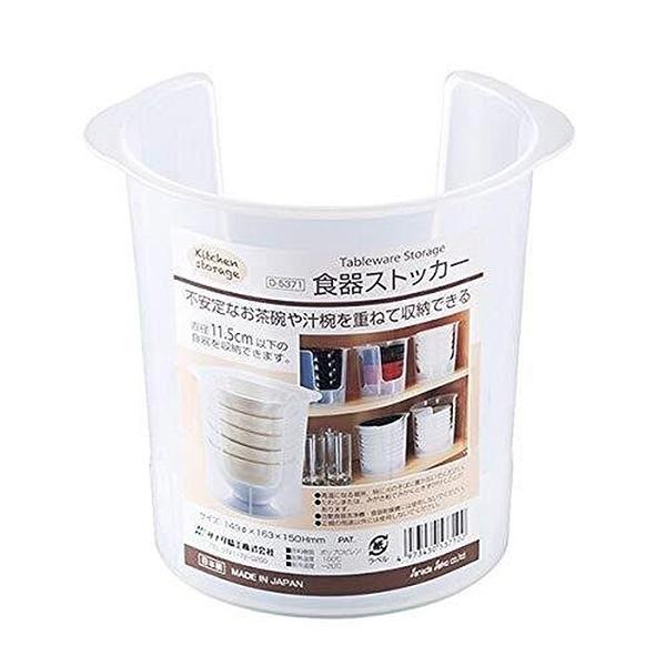 小禮堂 Sanada 日本製 塑膠收納碗架 (透明款) 4973430-53710