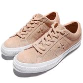 Converse 滑板鞋 One Star 淺粉紅 白 麂皮 休閒鞋 一顆星 星星 男鞋 經典復古 女鞋【PUMP306】 158481C