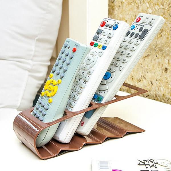四格電器遙控器收納架 桌面收納盒 遙控器架 【隨機出貨不挑色】(購潮8)