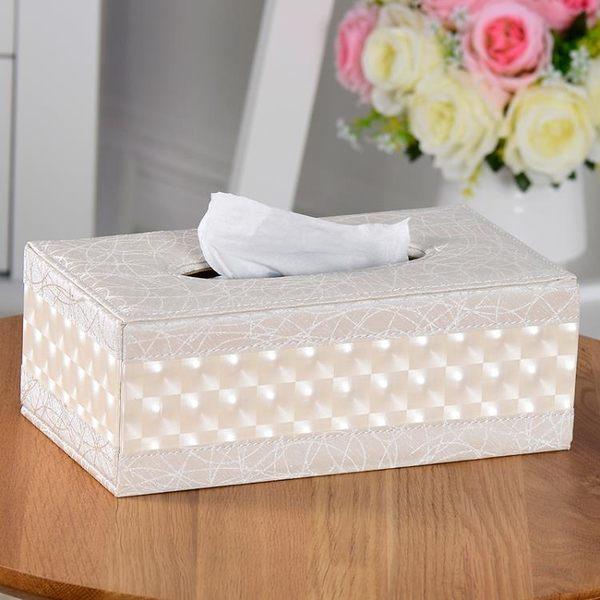 簡約皮革紙巾盒 歐式客廳家用餐巾紙盒 創意實木汽車用抽紙盒清新  可然精品鞋櫃
