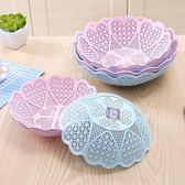 歐式個性水果盤創意現代客廳多功能果盆塑料家用簡約干果盤子套裝七夕情人節