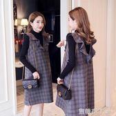 孕婦裝冬裝新款韓版秋裝套裝洋裝潮媽秋冬時尚款中長款上衣 焦糖布丁
