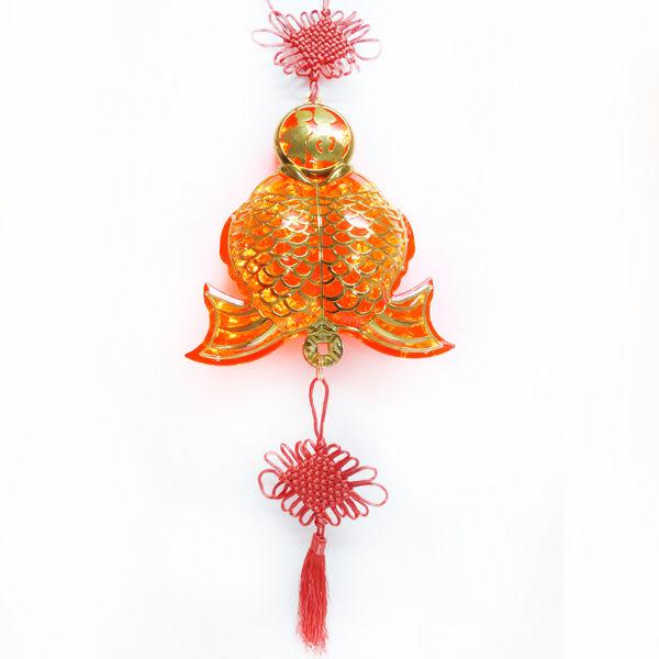 【摩達客】農曆春節特選 百福雙魚 LED燈串吊飾 (附控制器)(高亮度又省電)