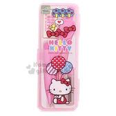 〔小禮堂〕Hello Kitty 盒裝圓規組《粉.坐姿.拿氣球》繪圖工具 4713791-96467