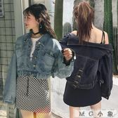 牛仔外套-韓版新款長袖bf風牛仔外套