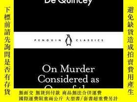 二手書博民逛書店On罕見Murder Considered As One Of The Fine ArtsY256260 Th