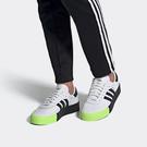 J-adidas Sambarose W 黑白 螢光綠 女鞋 運動鞋 鬆糕鞋 休閒鞋 厚底 增高 三線 舒適 愛迪達 EF4967