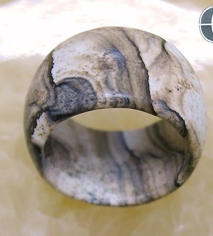 [協貿國際]天然圖畫石戒指板指飾品(3入價)