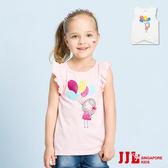JJLKIDS 女童 氣球女孩花邊棉質無袖上衣(2色)