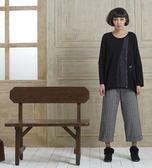 【gd shop】文青風後鬆緊條紋反褶休閒褲-兩色(1527031)