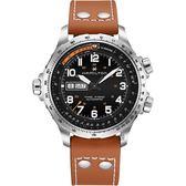 Hamilton 漢米爾頓 haki X-Wind 御風者機械錶-黑x咖啡/45mm H77755533