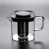【玻璃濾壺】舊望格家用大小號方形玻璃煮茶壺內膽過濾花茶煮茶泡茶壺茶杯套裝