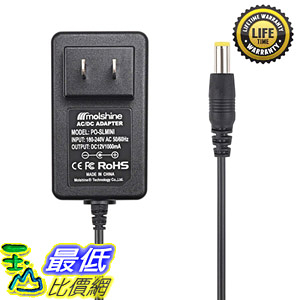 [8美國直購] 充電器 Molshine Compatible (6.6ft Cable) 12V AC DC Adapter for Bose Soundlink Mini (626209-1300)