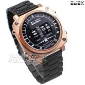 Click 飛機儀表板 創意 造型 腕錶 創新風格 趣味 不銹鋼 IP黑電鍍x玫瑰金 男錶 713B-RGBK-M