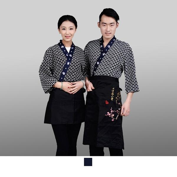 晶輝專業團體制服*CH108*日式溫泉飯店女竹子印花日本料理廚師服餐廳服務員工作服壽司