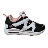 LOTTO 女款黑白色氣墊運動慢跑鞋-NO.LT0AWR2368