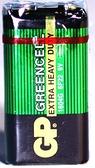 GP碳鋅電池綠色9V 1入