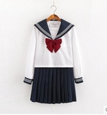 學院制服套裝白黑三本制服裙基礎款水手服不良秋冬學院風套裝長裙女 衣間迷你屋