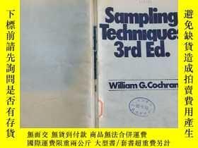 二手書博民逛書店Sampling罕見Techniques 3rd.ed抽樣方法(