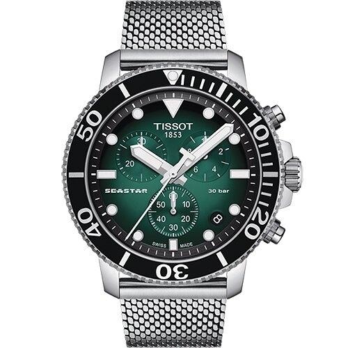TISSOT天梭 T1204171109100 海星300米 潛水錶