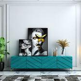 電視櫃 現代簡約輕奢電視櫃茶幾組合北歐客廳港式風格創意傢俱套裝 夢藝家