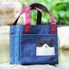 日式卡通大眾手工飯盒袋手提包便當包非保溫...